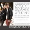Diplomatic Immunity Black Friday Sale!