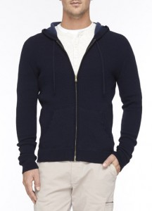 vince thermal zip-up hoodie