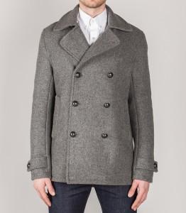 melton wool peacoat grey
